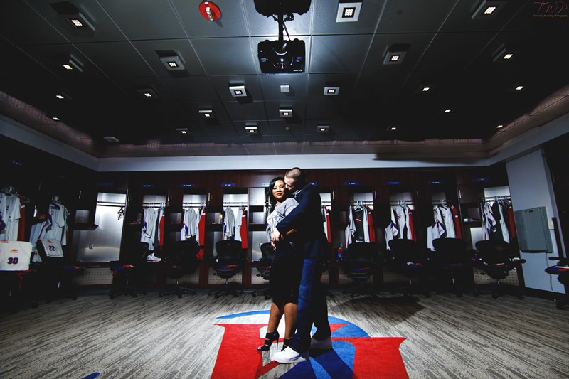 Jessica + Luke | Los Angeles Clippers Locker Room Engagement ...
